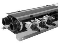 """1"""" x 1/2"""" MPT 24-Port Manifold - QickPort, Polymer, Stainless Steel"""
