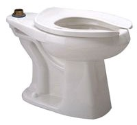 Floor Mount Elongated Toilet Bowl - EcoVantage, White, 1.28 Gpf