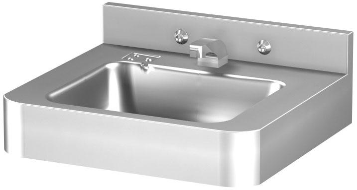 Wall Mount Bathroom Sink, 304 Stainless Steel