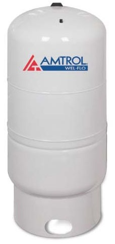 62 Gallon Vertical Diaphragm Well Tank - WEL-FLO, Light Gray, Deep Drawn Steel