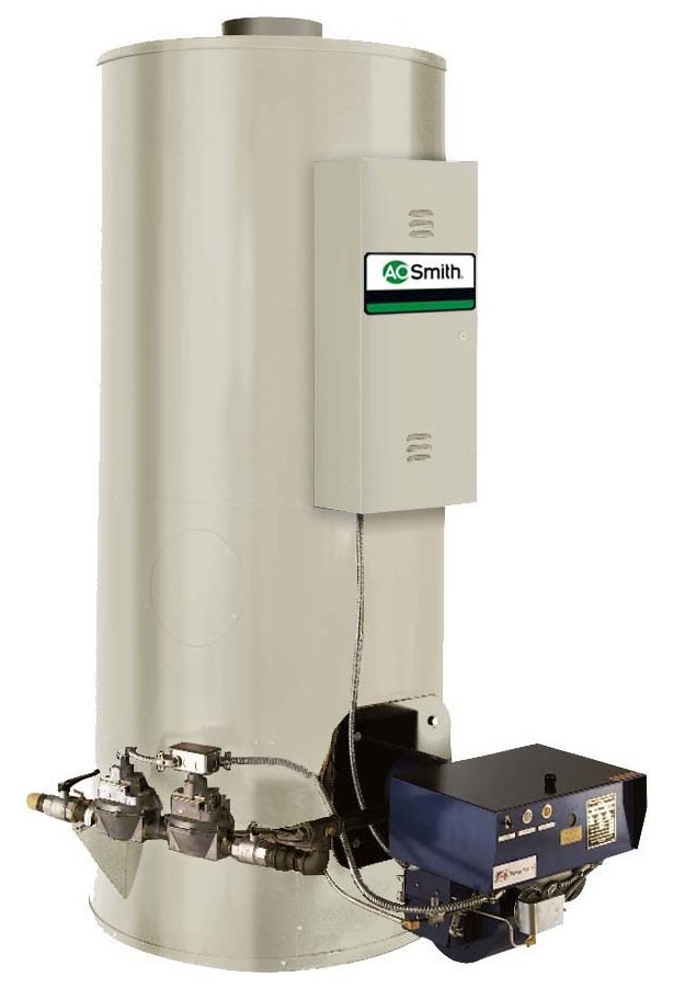 300 Gallon Conservationist Large Volume Power Burner 1,250,000 BTU Commercial Natural Gas Water Heater