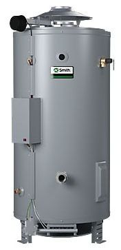 81 Gallon Commercial Natural Gas Water Heater - Master-Fit, 199000 BTU, Top and Rear Water Connections