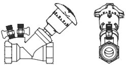 """1/2"""" Circuit Balancing Valve - ARMflo, Brass, NPT, 1.22 to 9.57 GPM"""