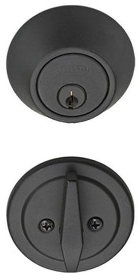Single Cylinder Door Deadbolt - Matte Black