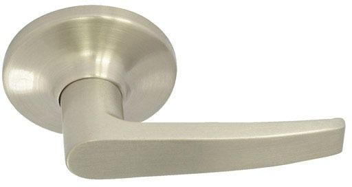 Dull Chrome Metal Door Lever - SOMA IV, Non-Handed, Tubular Hall and Closet / Passage Set