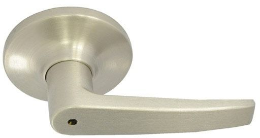 Dull Chrome Metal Door Lever - SOMA IV, Non-Handed, Tubular Bed / Bath Privacy Set