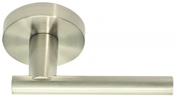 Satin Nickel Solid Zinc Reversible Door Lever - SKYLINE BOULEVARD, Non-Handed, Tubular Hall and Closet / Passage Set