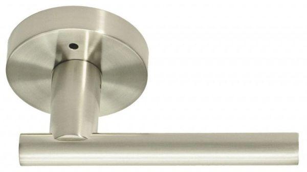 Satin Nickel Solid Zinc Reversible Door Lever - SKYLINE BOULEVARD, Tubular Bed / Bath Privacy Set