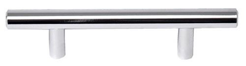 """Chrome Plated Electroplated Solid Cabinet Door Solid Bar Pull - SKYLINE, 3"""" Center to Center, Steel"""