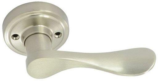 Satin Nickel Metal Door Lever - NEW WATERFRONT IV, Right Handed, Dummy