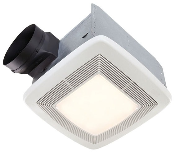"6"" Ultra Silent Ceiling Ventilation Fan/Light, Polymeric Grille"