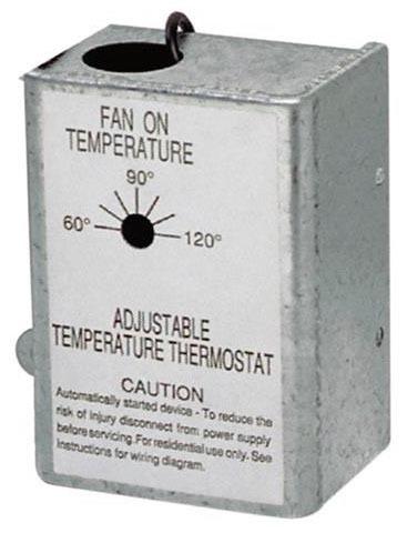 Automatic Adjustable Attic Ventilator Thermostat
