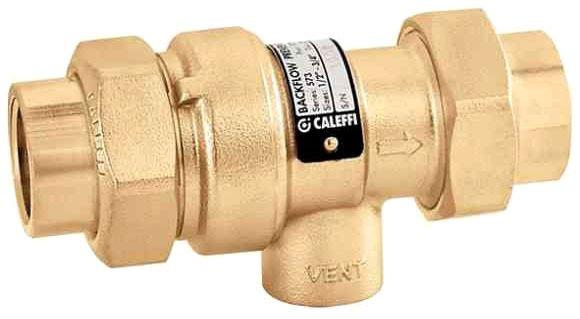 """3/4"""" Threaded Backflow Preventer, Brass"""