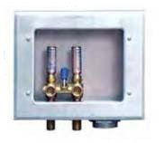 Right Drain Galvanized Washing Machine Outlet Box - Guy Gray, with Hammer Arrester Valve, Steel