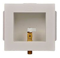 Ice Maker Outlet Box - Guy Gray, with 1/4 Turn Valve, PVC Resin