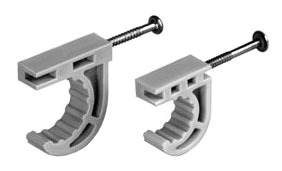 "1"" Plastic 1-Piece Half Pipe Clamp"