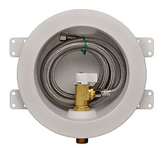 Round Ice Maker Outlet Box - Water-Tite / Wirsbo, with 1/4 Turn Valve, Brass