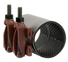 """6"""" Stainless Steel Single Band Universal Clamp Coupling - 6.85"""" to 7.25"""" OD, 12"""" Width"""