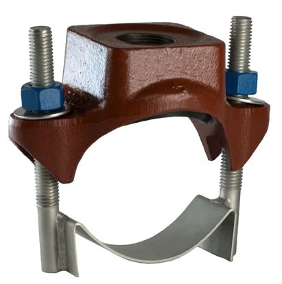 "6 X 2"" Ductile Iron Single Outlet Single Strap Service Saddle"