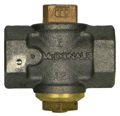 "1"" Cast Iron Gas Plug Valve - Flat Head, FPT, 175 psi"