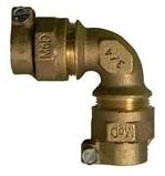 """2"""" Brass 90D Straight Elbow - CTS Compression"""