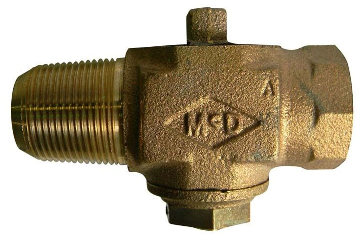 "1"" Plug Corporation Stop - CC x FIP, 100 PSI, Brass, Lead-Free"