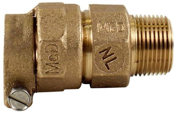 """2"""" Brass Straight Coupling - CTS Compression x MPT"""
