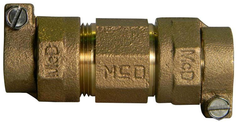 "3/4"" x 1"" Brass Reducing Coupling - CTS Compression"