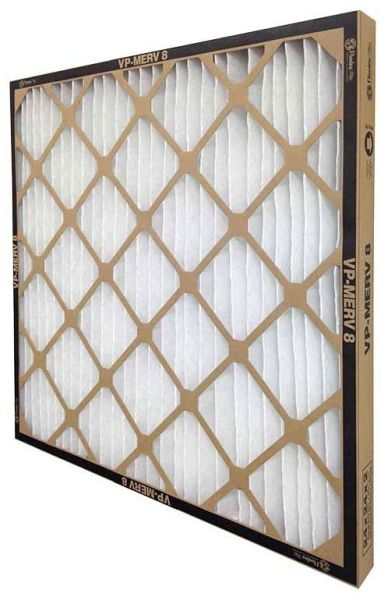 """1"""" x 20"""" x 20"""" MERV 8 Pleated Panel Air Filter - VP-MERV8, Standard Capacity, Extended Surface, Synthetic Non-Woven Media, 1389 CFM at 500 FPM"""