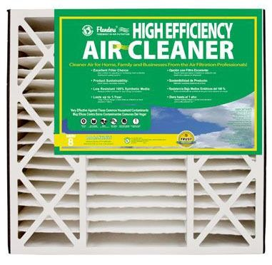 """20 X 25 X 5"""" Pleated Air Cleaner Filter, Synthetic Media"""