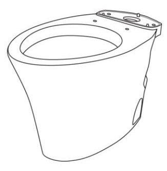 Floor Mount Elongated Toilet Bowl - Eco Nexus, Cotton, 1.28 Gpf / 4.8 Lpf