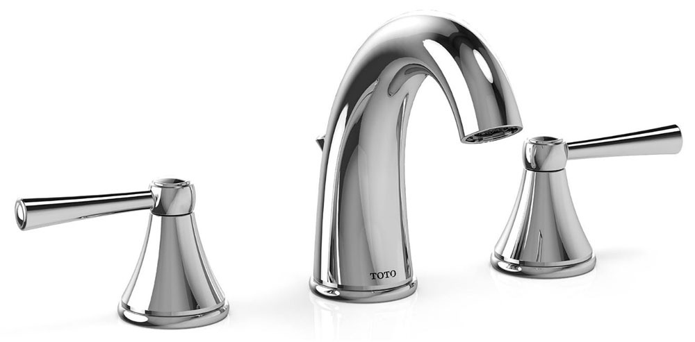 Bathroom Sink Faucet with Two Lever Handle - Silas, Polished Chrome, Deck Mount, 1.5 GPM