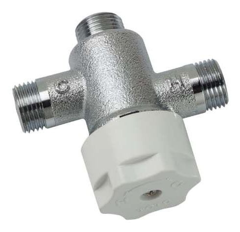 Threaded Thermostatic Mixing Valve, Solid Brass