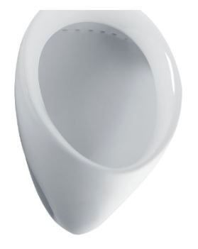"Commercial Washout Urinal - 0.5 GPF, 3/4"" Back Spud Inlet, Cotton"