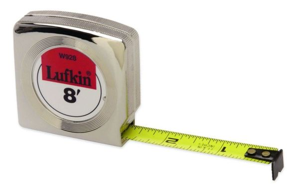 "3/4"" x 12' Power Return Tape Measure - Mezurall, Yellow Clad Blade"