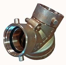 Threaded Fire Department Connection Clapper, Rough Brass