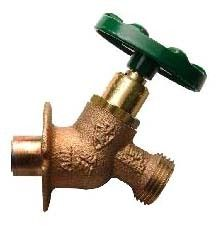 """1/2"""" Soldered/Hose Sillcock, Red Brass Alloy"""