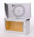 "8"" X 4"" Register Ductboard Ceiling Box, Sheet Metal"