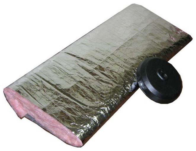 "10"" Insulating Duct Pipe Sleeve, Fiberglass"