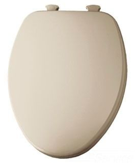 Elongated Toilet Seat - Closed Front with Cover, Residential Molded Wood