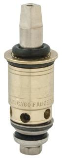 "Chicago Quaturn 1-099XTJKABNF 2-5/8"" Solid Brass 1/4 Turn Right Hand 90Deg Faucet Cartridge"