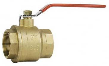 "1"" Forged Brass Full Port Ball Valve - Lever Handle, FPT, 600 psi WOG"