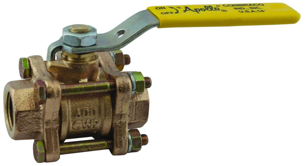 "1-1/2"" DZR Bronze Full Port Ball Valve - Lever Handle, FPT, 600 psi CWP, 150 psi SWP"
