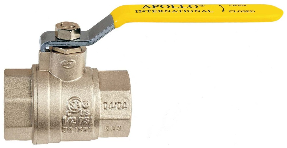 "1"" Forged Brass Full Port Ball Valve - Lever Handle, FPT, 600 psi CWP"