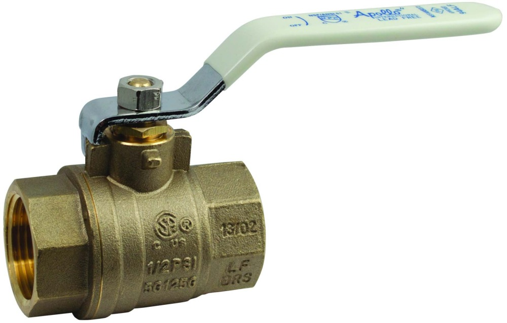 """2"""" Forged Brass Full Port Ball Valve - Lever Handle, FPT, 600 psi CWP"""