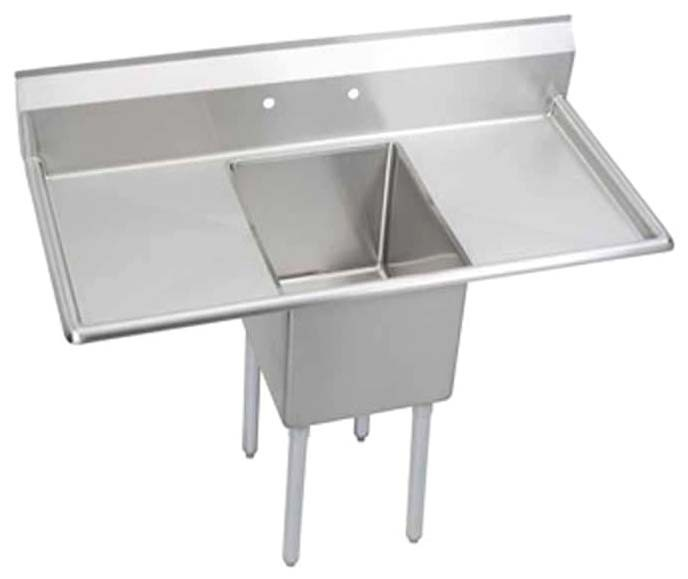 "16 Guage Stainless Steel 16"" X 20"" X 14"" Single Bowl Scullery Sink W/ 18"" Left & Right Side Drainboards"