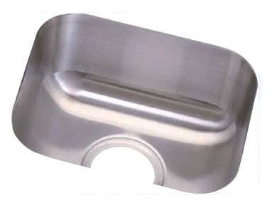 "18 Gauge Stainless Steel 14-1/2"" X 12-1/2"" X 6-1/2"" Radiant Satin Single Bowl Undermount Bar/Prep Sink"