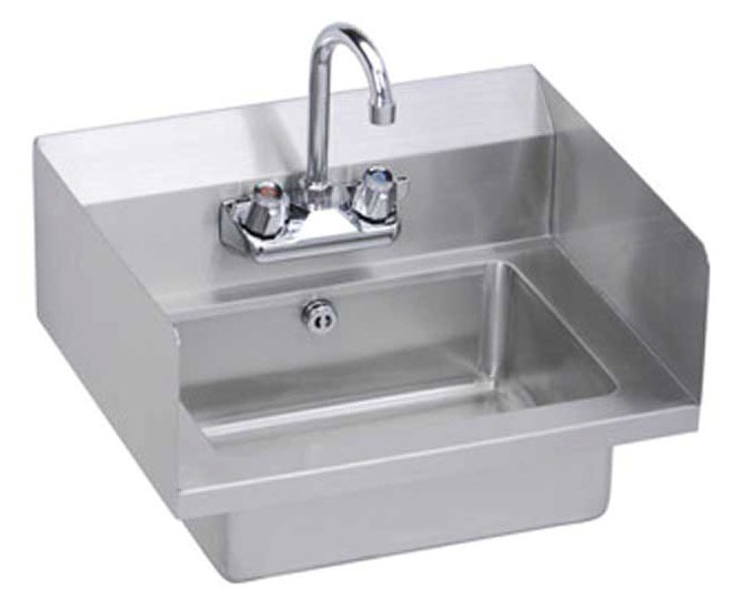 """18"""" x 14-1/2"""" Wall Mount Hand Sink - 2-Hole, Stainless Steel"""