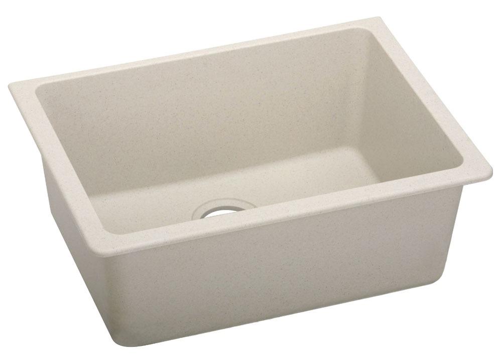 """Quartz 25"""" X 18-1/2"""" X 9-1/2"""" Bisque Single Bowl Undermount Kitchen Sink"""