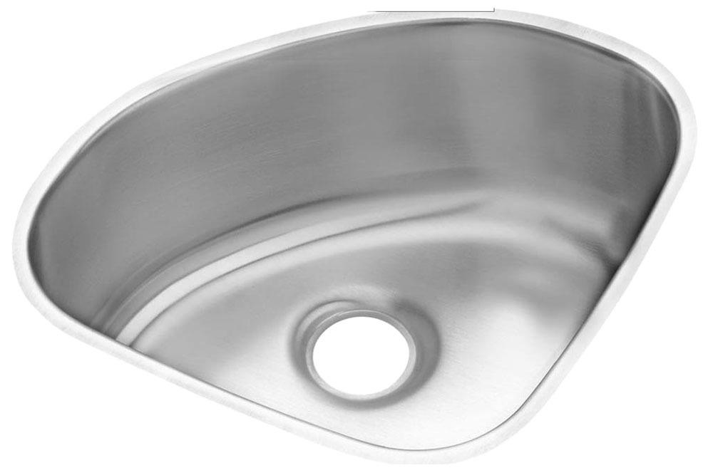 "18 Gauge Stainless Steel 14"" X 14"" X 6-3/8"" Lustertone Single Bowl Undermount Kitchen Sink"